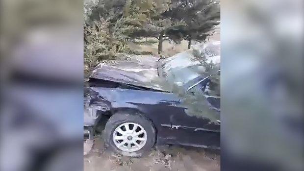 Bakıda xanım sürücü ağır qəza törətdi - VİDEO