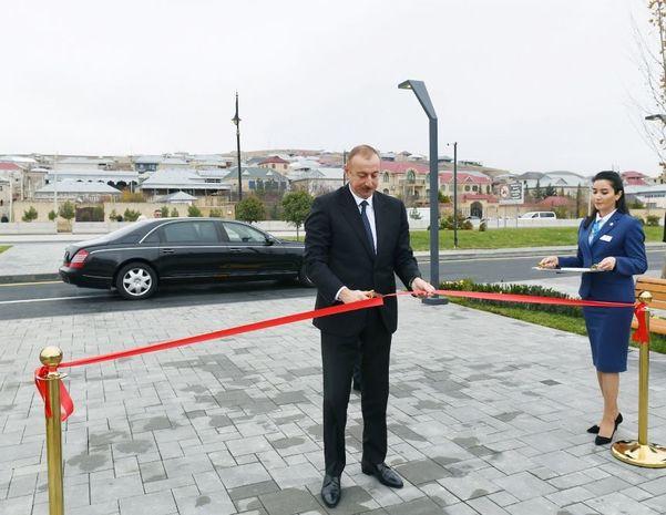 """Prezident Şamaxıda """"ASAN Həyat"""" kompleksinin açılışında olub - YENİLƏNİB+FOTO"""