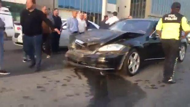 Bakı-Sumqayıt yolunda baş verən qəza tıxaca səbəb oldu - VİDEO
