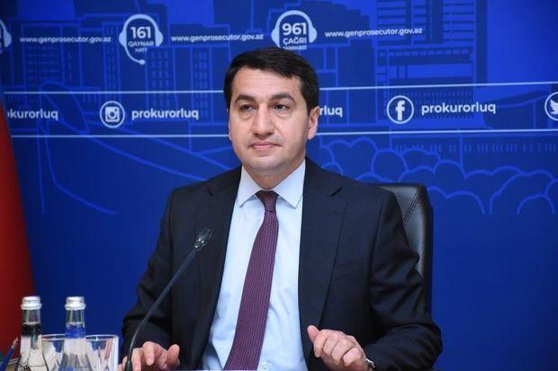 Hikmət Hacıyevdən günün fotosu: Ermənistanın hərbi cinayətlərinin təsdiqi - FOTO