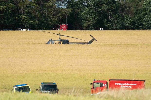 Almaniyada helikopter qəzası: Ölənlər var